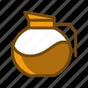 cafe, coffee, jar, mixer, pot