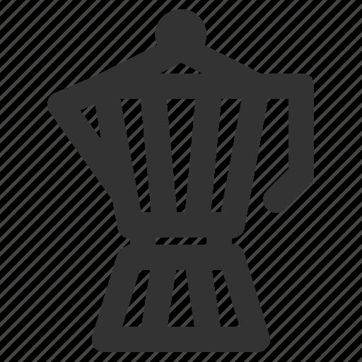 coffee, coffee maker, moka espress, moka pot icon
