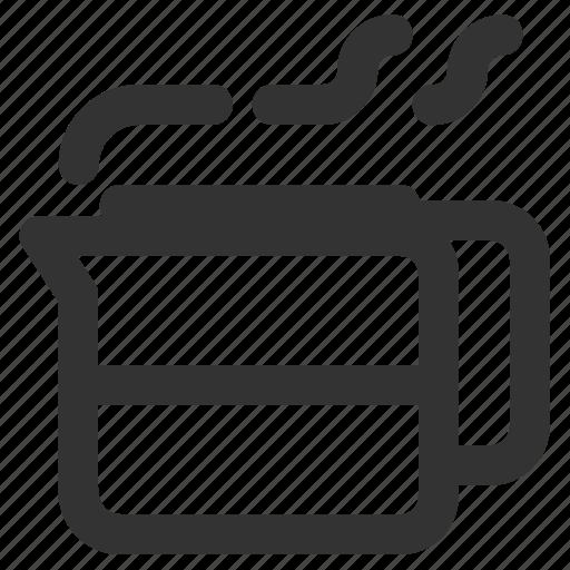 coffee carafe, coffee decanter, coffee pot, coffee server icon