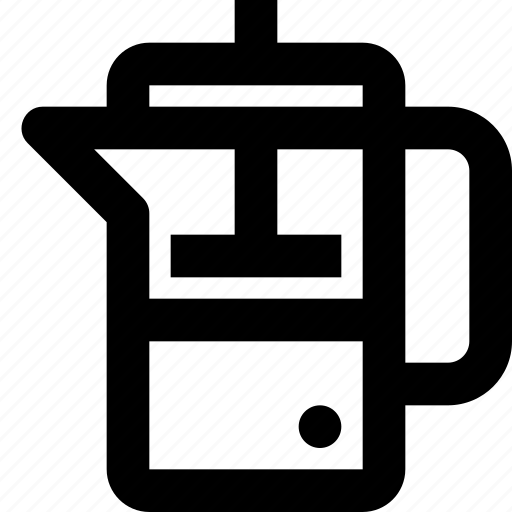 coffee, filter, french, hot, press, tea icon