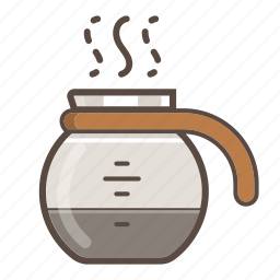 cafe, coffee, drink, hot, office, pot, refill icon