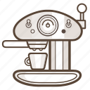 appliance, cafe, coffee, esspresso, kitchen, machine icon