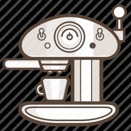 appliance, cafe, coffee, esspresso, kitchen, machine icon