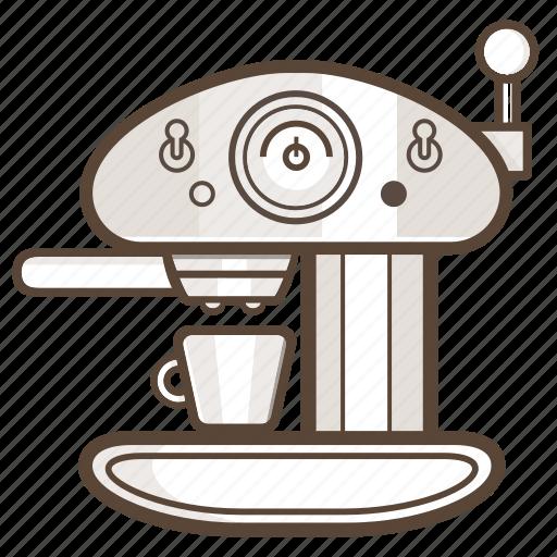 Appliance, cafe, coffee, esspresso, kitchen, machine icon - Download on Iconfinder