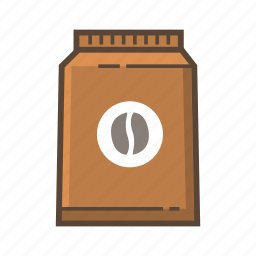 bag, bean, beans, cafe, coffee, drink, pocket icon