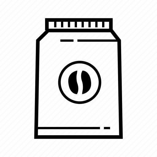 Bag, bean, beans, cafe, coffee, drink, pocket icon - Download on Iconfinder