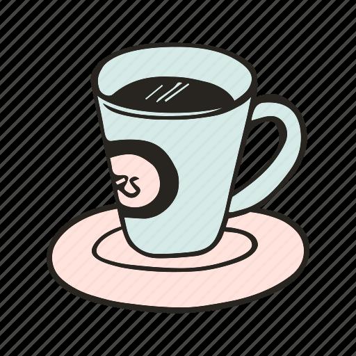 cafe, cafeteria, coffee, cup, doodle, espresso, kitchen icon