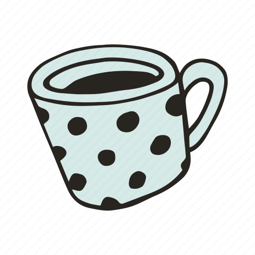 cafe, coffee, cup, doodle, espresso, kitchen, mug icon