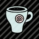 cafe, cafeteria, coffee, cup, doodle, drink, espresso icon