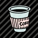 americano, cafe, coffee, cup, doodle, drink, espresso icon