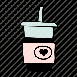 americano, cafe, cafeteria, coffee, cup, doodle icon