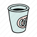 cafe, coffee, cup, doodle, drink, shop, tea icon