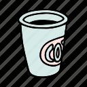 coffee, cup, tea, doodle, cafe, shop, drink