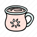 cafe, coffee, cup, doodle, latte, mug, tea icon