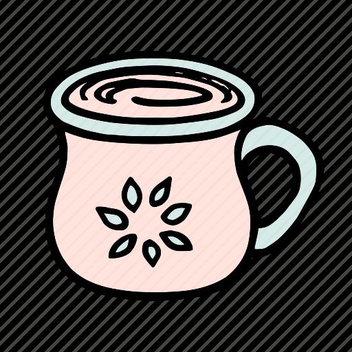 cafe, coffee, cup, doodle, latte, mug, tea icon