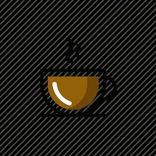 coffee, cups, drink, glass, hot, mugs icon
