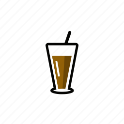 cafe, coffee, glass, juice, restaurant icon