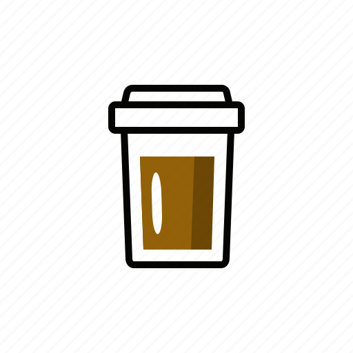 coffee, drink, express, glass, pack icon