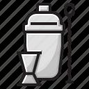 bar, cocktrails, drink, shaker icon