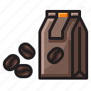 seeds, bean, coffee icon