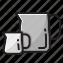 coffee, drink, jigger, jug icon
