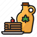 delicious, dessert, food, sweet, syrup icon