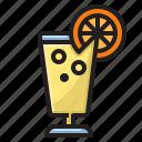 drink, ice, lemon, tea icon