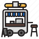 cafe, coffee, food, street, truck icon