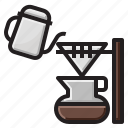 coffee, cup, drink, drip, hot icon