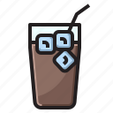 coffee, ice, water icon