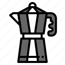barista, coffee, drink, moka pot, tool icon