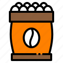 agriculture, beans, coffee, drink, seed icon