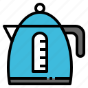 cup, electric, jar, kettle, utensil icon