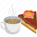 bakery, breakfast, cake, coffee, coffee and cake, tea time, tea with cake icon