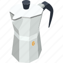 coffee kettle, hot coffee, hot tea, kettle, tea and coffee kettle icon