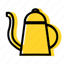 brew, cafe, coffee, filter, kettle, manual icon
