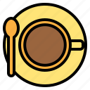 coffee, coffee shop, drink, shop, top, view icon