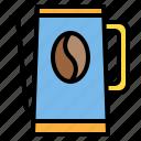 coffee, coffee shop, drink, kettle, shop icon
