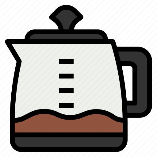 boiling, coffee, hot, kettle, pot icon