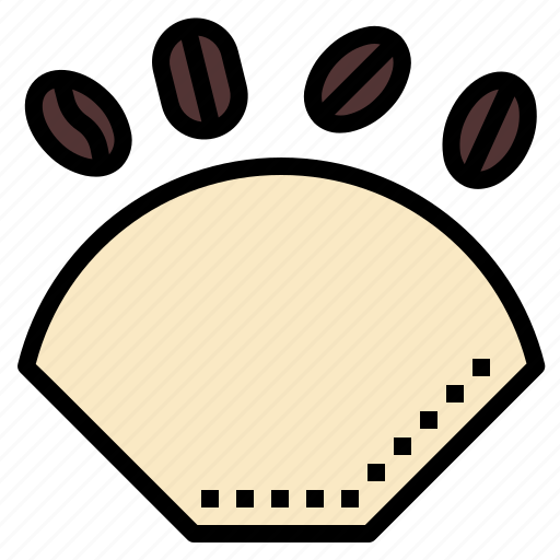 brew, coffee, filter, paper, shop icon