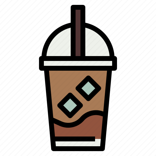 Coffee, drink, ice, iced, latte icon - Download on Iconfinder