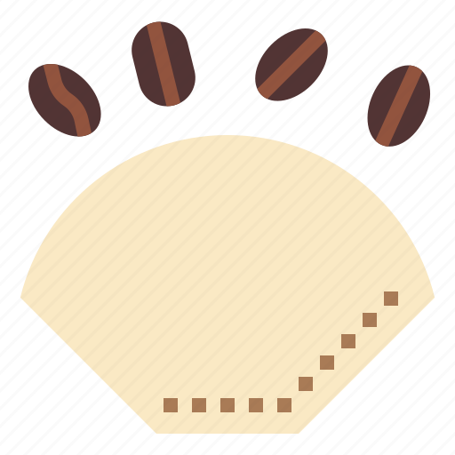 brew, coffee, drink, filter, hot, paper, shop icon
