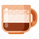 beverage, cafe, coffee, coffee shop, food, latte icon
