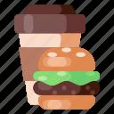 beverage, burger, cafe, coffee, coffee shop, food