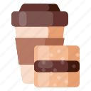 beverage, cafe, cake, coffee, coffee shop, food icon