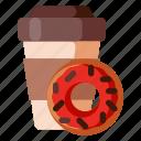 beverage, cafe, coffee, coffee shop, donuts, food