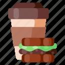 beverage, cafe, coffee, coffee shop, food, sandwich