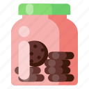 beverage, cafe, coffee shop, cookie, food, jar icon