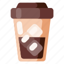 beverage, cafe, coffee, coffee shop, food, ice icon