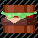 beverage, cafe, coffee shop, food, sandwich icon